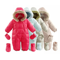 Baby Girl Jumpsuits Russia Winter Baby Clothing & Snow Wear Duck Down Jacket & Snowsuits for Kids Boys Girls Clothes Down Coat