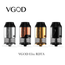Recién llegado VGOD Elite RDTA tank 24mm Rebuildable Dripping Atomizer 4ml para vgod elite pro mech mod VS TRICKTANK PRO R2 RDTA