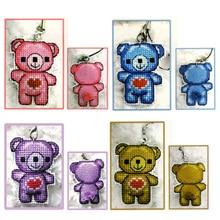 DIY Craft Стич Вышивка крестом Ключ Телефон Аксессуары Медведь пластиковая ткань рукоделие Вышивка ремесла счетный крест-Набор для вышивки