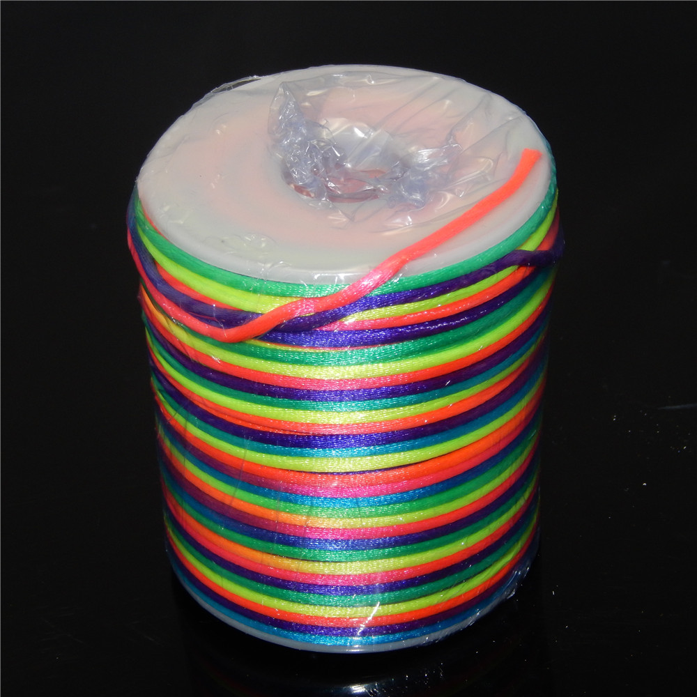 5 Meters Round 2 mm Colorful Elastic Rope Thread String Cord Wire DIY Jewellery Making Necklace Rope Crafts Accessories YW-373