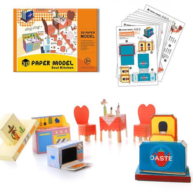 1 Conjunto DIY Manual Handmade Livros Origami Papel Cut 3D Tridimensional Brinquedos Educativos para Crianças Criativas Crianças Divertido Jogo Do Presente