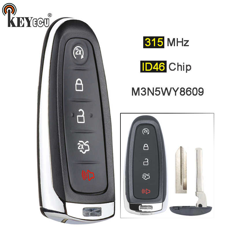 Remote Key Fob for 2011-2015 Ford Edge Smart Prox M3N5WY8609 Black