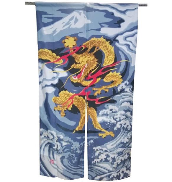 (Customized Size Accept) Korea/Japan/China Sushi Restaurant Kitchen Hanging Doorway Split Cloth Curtain-Dragon(85x150cm)