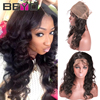 7A Peruvian Body Wave Human Hair Extensions 360 Lace Frontal Closure Peruvian Virgin Hair Body Wave Lace Frontals With Baby Hair