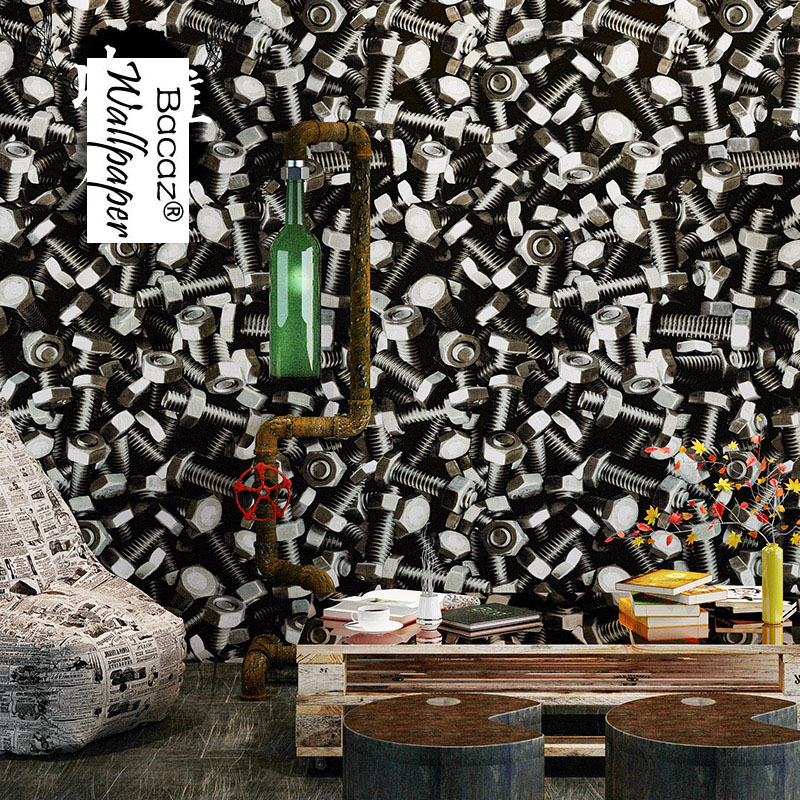 3d papel de parede Screw Lag Spike Washable vinyl 3d wallpaper roll for bedroom TV background 3d wall paper Mural living room custom papel de parede infantil see graffiti mural for sitting room sofa bedroom tv wall waterproof vinyl which wallpaper