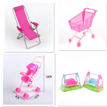 Princess Stroller Cart For BJD Reborn American Girl Doll Barbie Accessories Furniture Gadgets Interesting Toys Girls Gift