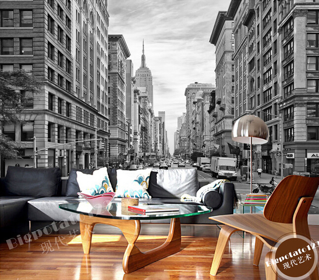 Custom Photo Wallpaper The New York Wall Street For The Living Room
