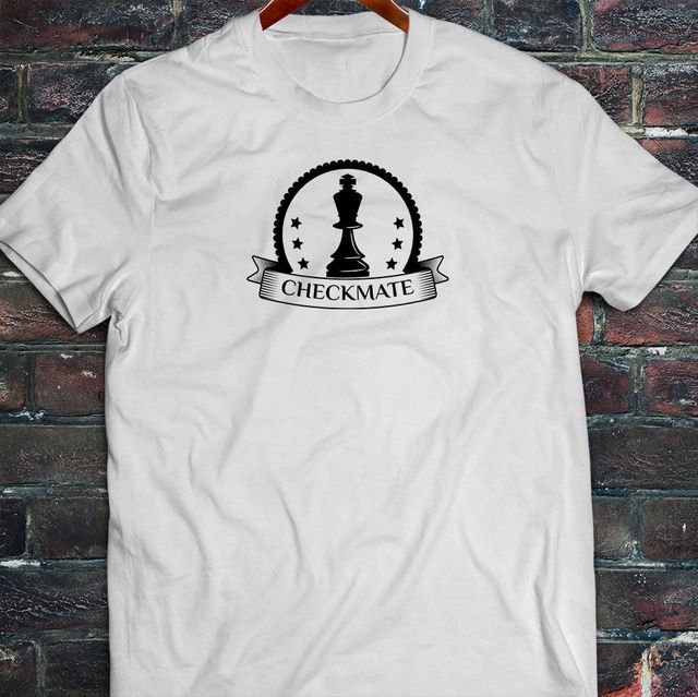 dfc22843 Cool T-Shirts Designs Best Selling Men CHECKMATE KING CHESS STRATEGY SKILLS  GAMES QUEEN Mens White T-Shirt T-shirt