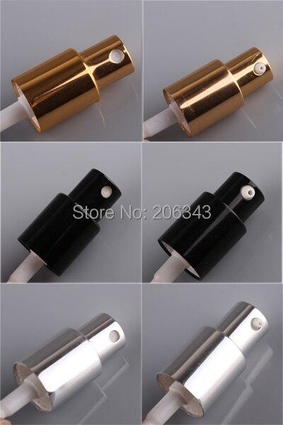 18 мм золото/черный/серебро алюминиевый пресс-насос для лосьона мелкий распылитель тумана 5 мл/10 мл/15 мл/20 мл/30 мл/50 мл/100 мл для бутылки эфирного масла
