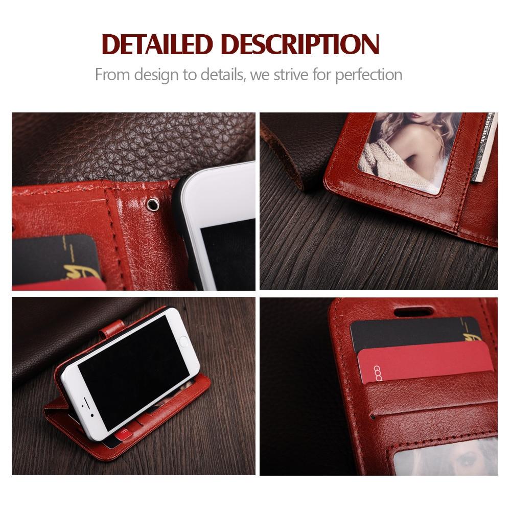 LANCASE Na iPhone 6s 11 PRO Pokrowiec ochronny PU Leather Luxury - Części i akcesoria do telefonów komórkowych i smartfonów - Zdjęcie 5