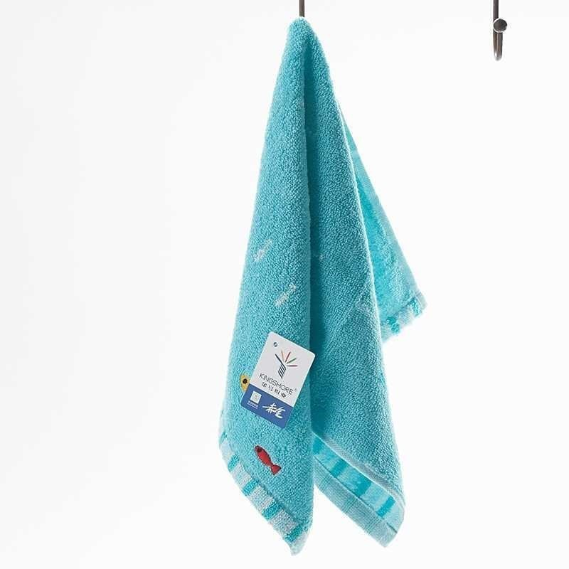 Cartoon Pure Cotton Solid color Small Towel Children Towel Pure Cotton Baby care Water Uptake Towel Children Towel in Towels from Mother Kids