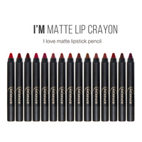 15 Colors Set Matte Lipstick Pen Waterproof Long Lasting Smooth Lip Stick Pencil Batom Cosmetic Makeup