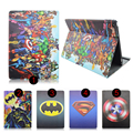 Global Tablet Accessories Colleation -Superhero Style Print Pu Leather Stand Cover for iPad Pro 12.9 Case for iPad Pro 12.9 inch