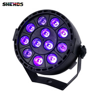 SHEHDS LED Flat Par 12x3W Violet Color Lighting UV With DMX512 For Disco DJ Projector Machine