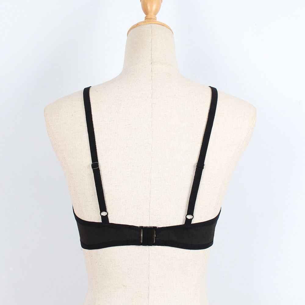 1 pieza Sexy sin costuras Cruz verano ropa de dormir sujetador vendaje para mujer ropa interior Sujetador Push Up moda mujer Bralette erótico lencería