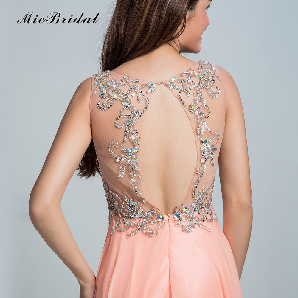 45e530bba541 MicBridal Latest Evening Gown Designs Beaded Sequins Backless Chiffon Dress  Robe Longue Femme Soiree MY 117 Long Gown Dresses-in Evening Dresses from  ...