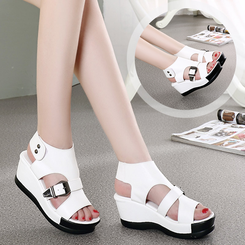 Best selling Summer Women Sandals 2017 Genuine Leather ...