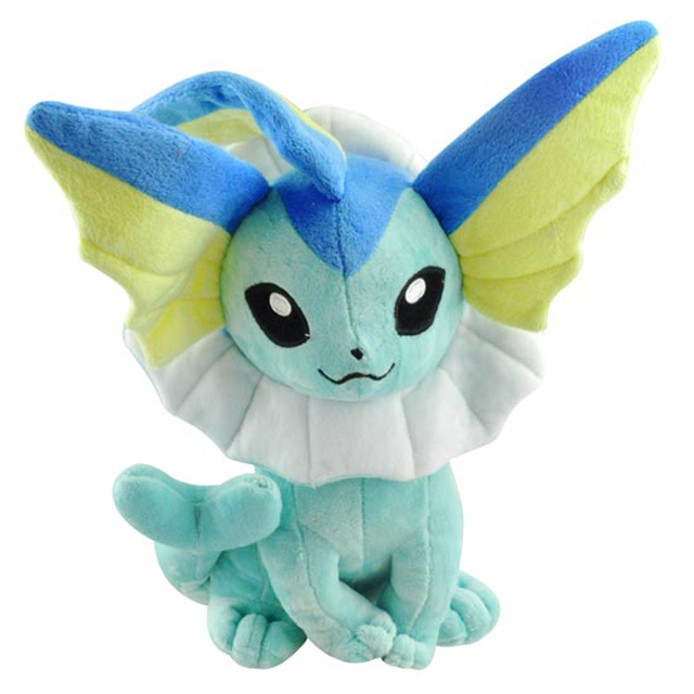 Big Size 35cm Sitting Pokemon Vaporeon Eevee Plush Toys Doll Pocket Monster Plush Soft Stuffed Animals Toys Gift for Children