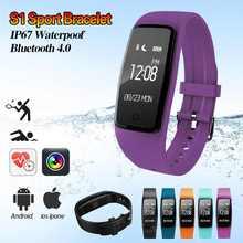 Смарт-браслеты S1 Часы Heart Rate Мониторы удаленного Bluetooth SmartBand браслет шагомер Фитнес SmartBand напоминание
