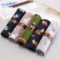 Японский и корейский милый прокрутки ручка сумка холст занавес двойного назначения многоцелевой креативный студенческий Карандаш сумка К...