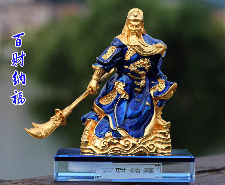 2019 HOME OFFICE SHOP รถที่มีประสิทธิภาพ Talisman ป้องกันเงินวาด Martial God of wealth guan gong Guandi FENG SHUI statue