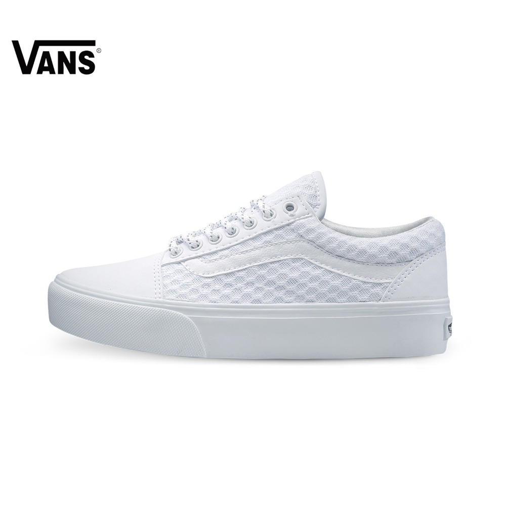 White Women Vans Sneakers Low-top Trainers Female Sports Skateboarding Shoes Rubber Flat Breathable Classic Canvas Vans Shoes vans women sneakers low top trainers unisex men women sports skateboarding shoes breathable classic canvas vans shoes for women