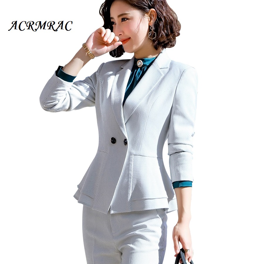 Skirt Volants Ensemble Ol blue Crayon Femmes Set Skirt 2 Set Pants Pantalon blue Pièces Acrmrac Skirt Pants white Blue blue D'affaires Blazers white white Pants Set Costumes Formelle Slim ztawqqxTv