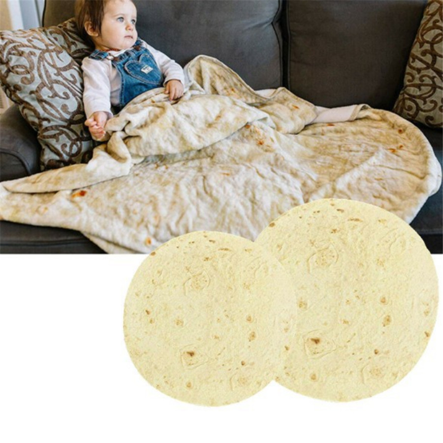 Tortilla/manta/cobija Burrito Cotton Throws Blanket Rug Round Burrito Small Carpet For Home Camping Picnic Outdoor Blanket Bedding