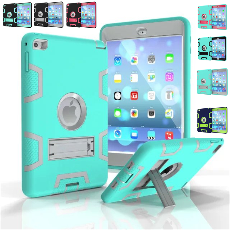 For iPad mini 4 3 2 1 cases Kids Baby Safe Armor Shockproof Heavy Duty Tablet Silicone Hard Case Cover For iPad mini 1/2/3/4