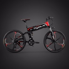 LOVELION 26 Inch Electric Mountain Bike Hidden 48v Lithium Battery 350w Bicycle Power Instead Of Walking Ebike