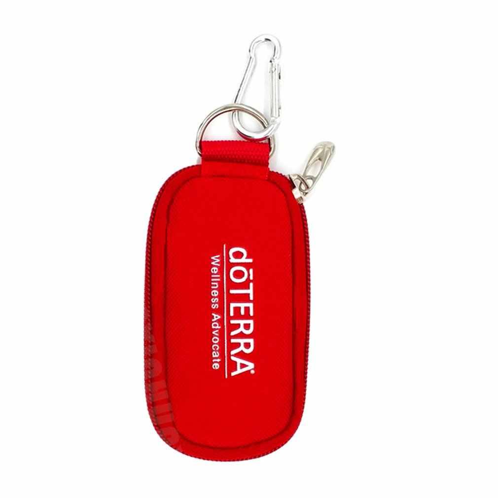 10 garrafas de armazenamento de óleo essencial saco de transporte portátil caso titular de viagem 2ml bolsa organizador rangement saco com zíper