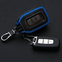 1pcs Accessories 13.5*5cm Universal Leather Key Case Zipper Car Smart Remote Cover Keychain Bag(China)