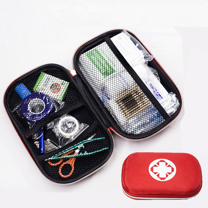 17 Items Portable Travel First Aid Kit Mini Medicine Package Emergency Survival Bag For Home Outdoor Sports Medical Bag Kits Hot