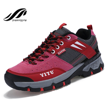 New arrival autumn authentic hiking shoes outdoor antiskid trekking women shoes waterproof quality sneakers