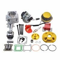 GOOFIT Cylinder Kit Carburetor Air Filter For 2 Stroke 47cc 49cc Pocket Bike Mini ATV Quad