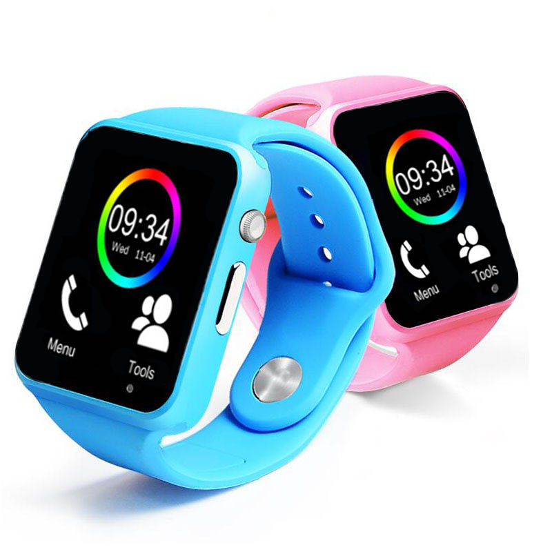 NEW Fashion Colorful Sprot Smart Watch A1 For Kids Android IOS IPHONE Smartphone Watch Sim Card