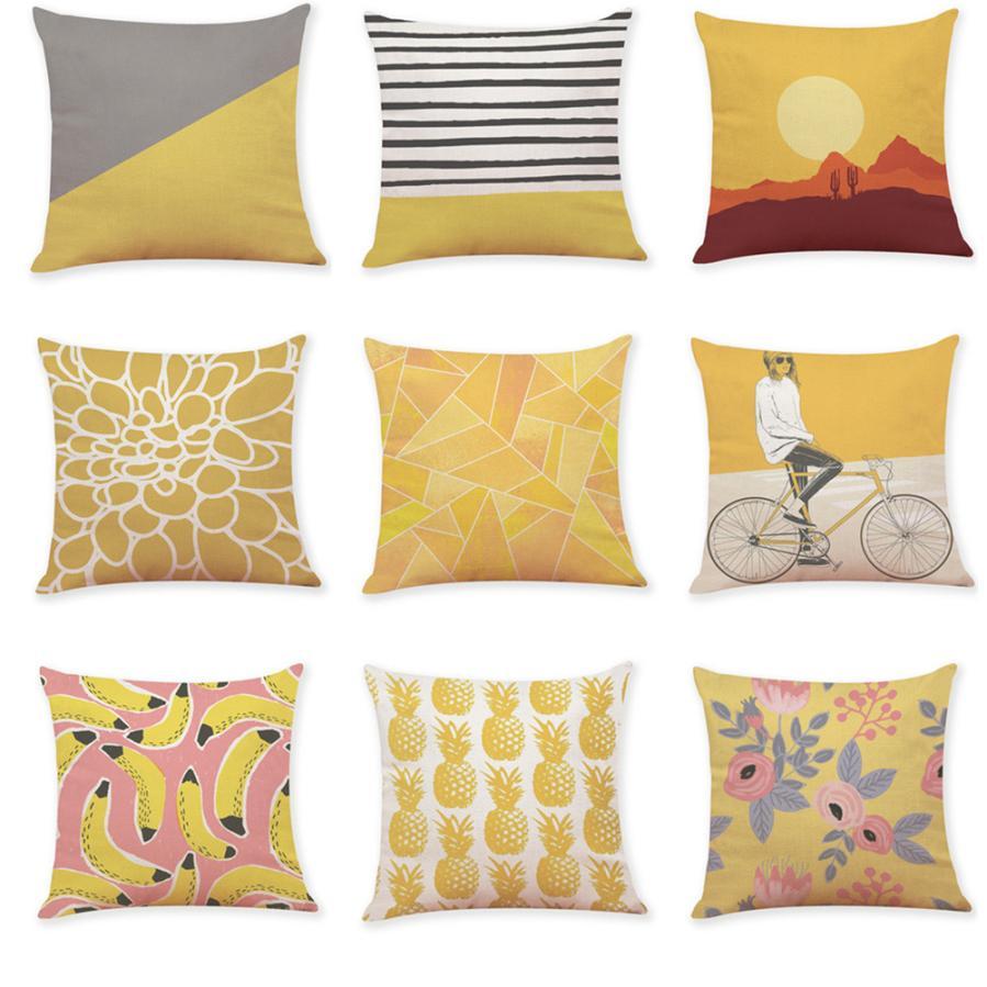 round yellow accent fk pillows designs pillow d decorative