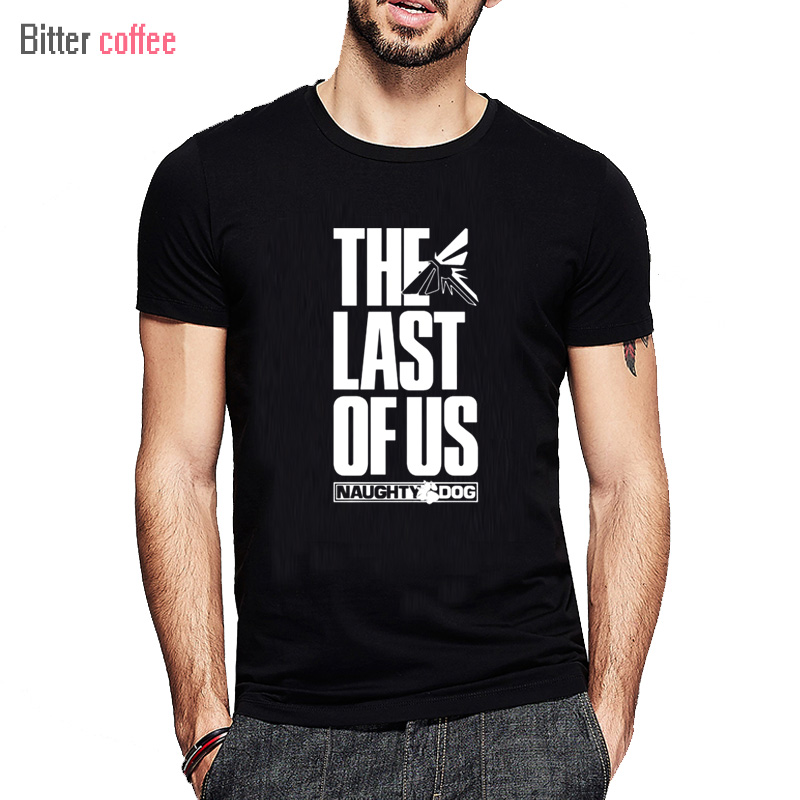 Verano The Last Of Us Men T shirt The Last Survivor Gamers Camisetas de manga corta Estilo de moda O-cuello Algodón Estampado impreso
