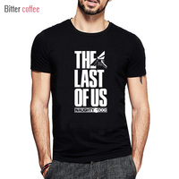 Summer The Last Of Us Men T Shirt The Last Survivor Gamers Short Sleeve Tshirts Fashion