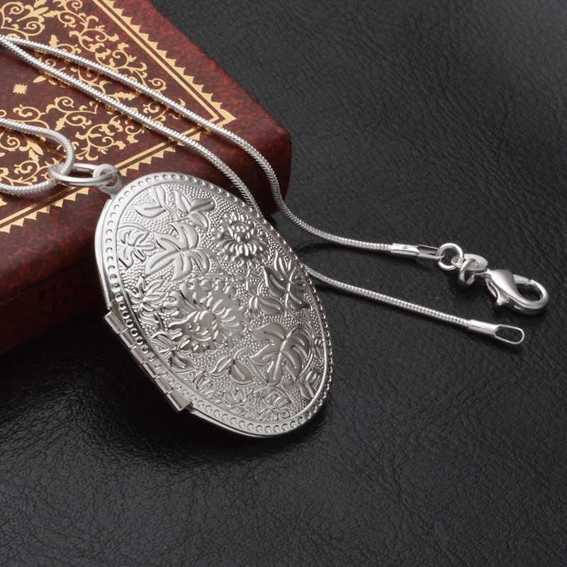 MEEKCAT Англия Ретро 925 стерлингового серебра ожерелье круглый открытый подвесной кулон для ожерелья фото женщин воротник ювелирные изделия