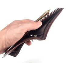 Short Men Wallets Zipper Coin Pocket Slim Billetera Hombre Thin Short Purse Korean New Arrival Letter Leatner Portafoglio Uomo