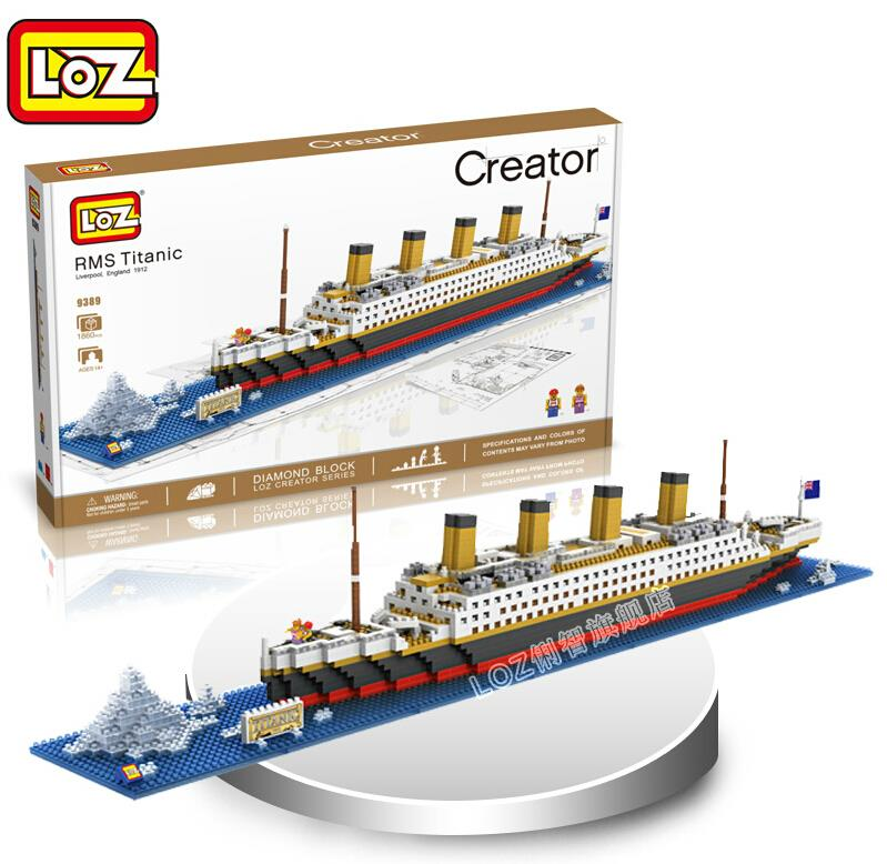 LOZ NanoBlocks 3D DIY Cute Diamond Building Blocks Bricks Titanic Cruise Liner Ship Learning Education Kids Toys Gift DecorationLOZ NanoBlocks 3D DIY Cute Diamond Building Blocks Bricks Titanic Cruise Liner Ship Learning Education Kids Toys Gift Decoration