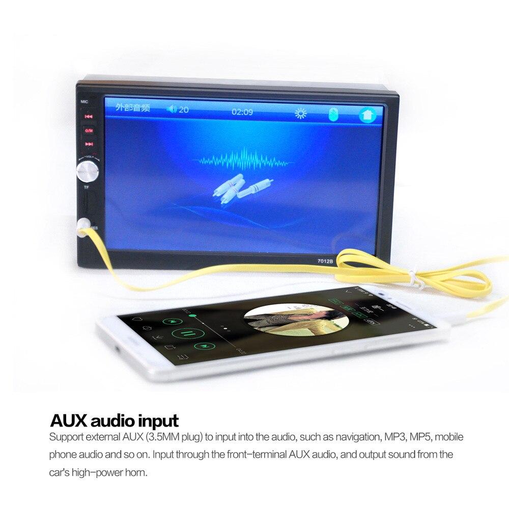 В тире автомобиля касания USB/памяти SD/МР3/МР5 плеер AUX FM-радио стерео Bluetooth с двойной элемент на DIN мода 17Sept14