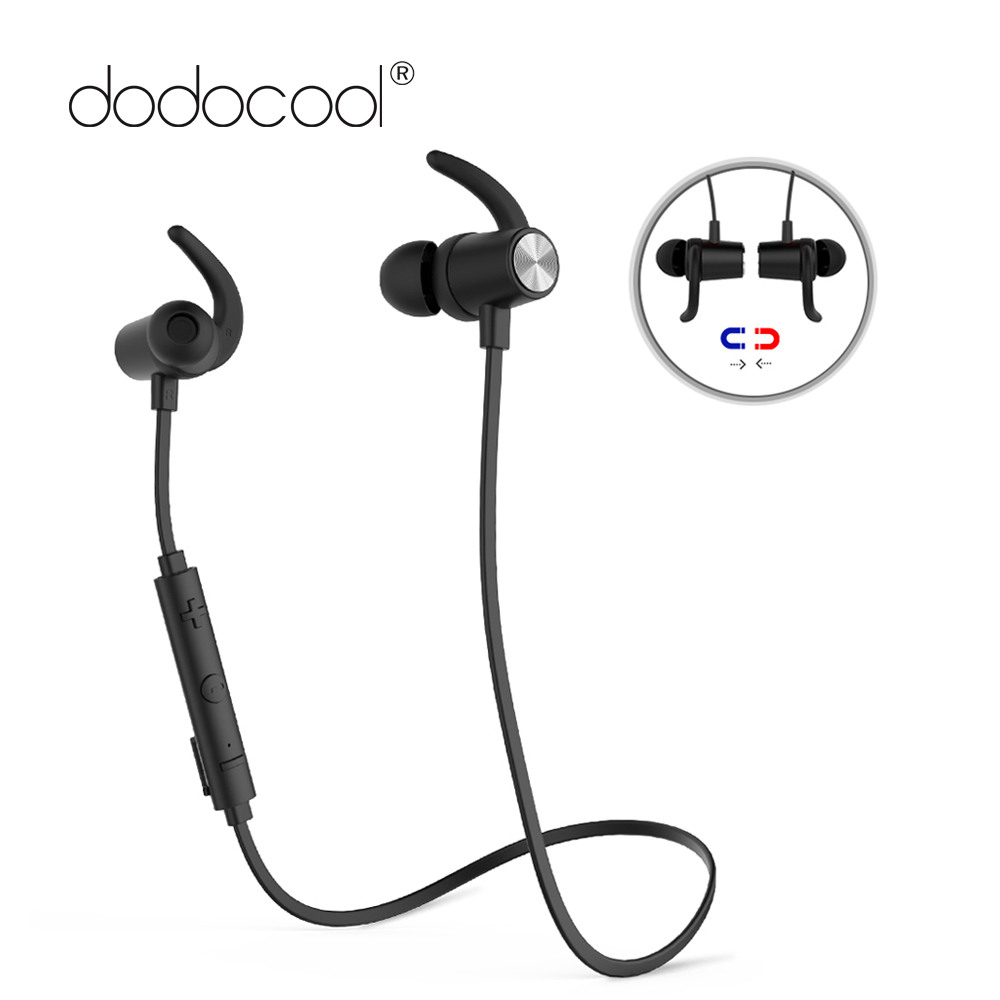 лучшая цена dodocool Bluetooth Earphone with Mic Wireless Headphones Aptx Sports Bluetooth Headset Noise Cancellation for iphone Samsung