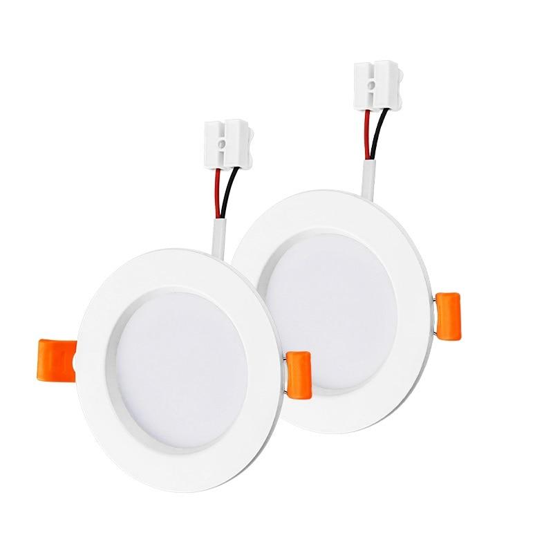 LED سبائك الألومنيوم أضواء كاشفة مقاومة للماء 3 واط 5 واط 7 واط 9 واط 12 واط 15 واط 18 واط AC220V جولة جزءا لا يتجزأ من LED ضوء السقف SMD2835 الدافئة الباردة ا...