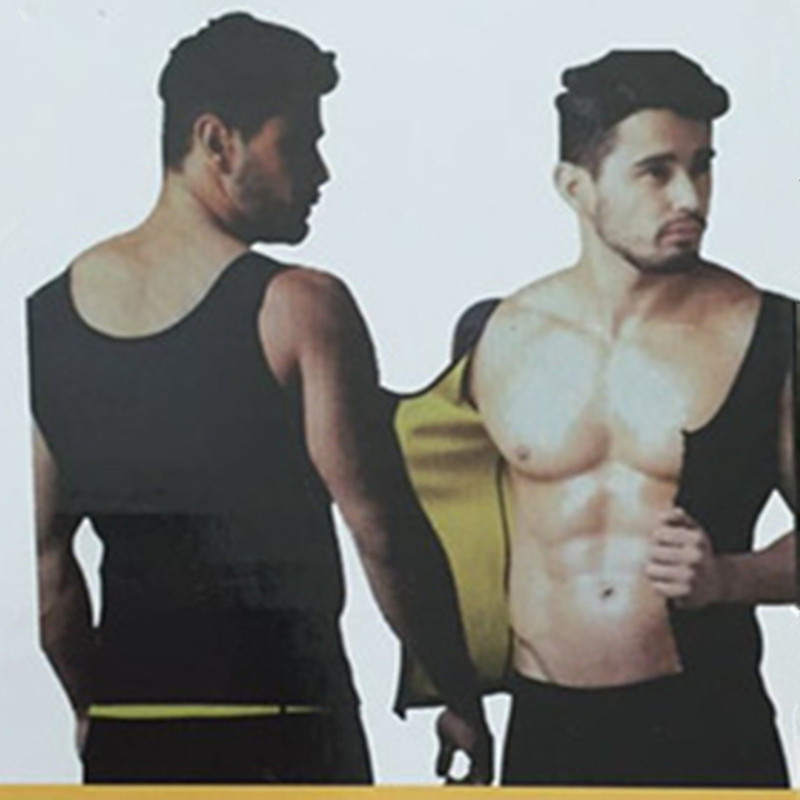 Mens Hot Shapers Neoprene Vest Increase Body Temperature Tummy Control Abdomen Reduce Fat Burn Sauna Sweat Waist Trainers Corset