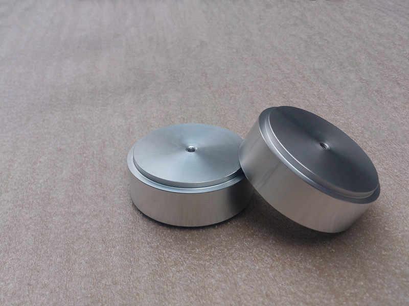 4 шт. (серебристый) Алюминиевые ножки для усилителя/динамика (с резиновым кольцом) D: 58 мм H: 22 мм серебристый или черный или золотой (опционально)