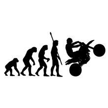 Наклейка на мотоцикл, модная, Эволюция человека, наклейка на автомобиль мотоцикла s Fun, светоотражающие виниловые наклейки, черные/белые для Lada