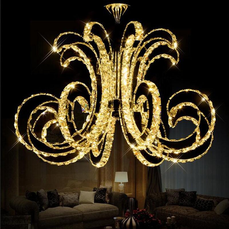 Z Modern LED Crystal Ceiling Lamp Luxury Art Lustre LED Chip Lamp Fixture for Hotel Restaurant Sittingroom Crystal Droplight noosion modern led ceiling lamp for bedroom room black and white color with crystal plafon techo iluminacion lustre de plafond