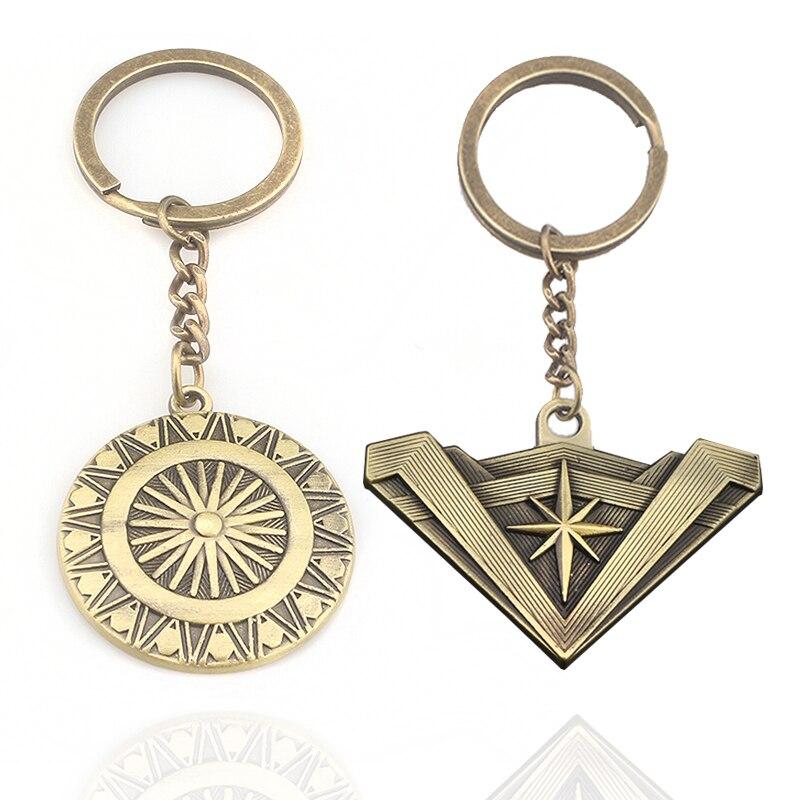 Movie Superhero Wonder Woman Keyring Fashion metal Keychain Pendant Gifts Accessories